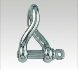 SS Twisted Shackle, Screw Pin