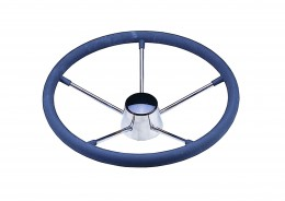 S.S Steering Wheel with Rubber Grip