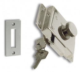 Washboard Lockset S.S/ CHR