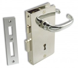 Mortise Door Lock w/ Key S.S/ CHR