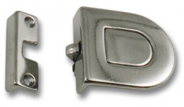 Flush Push Latch, Chromed Brass